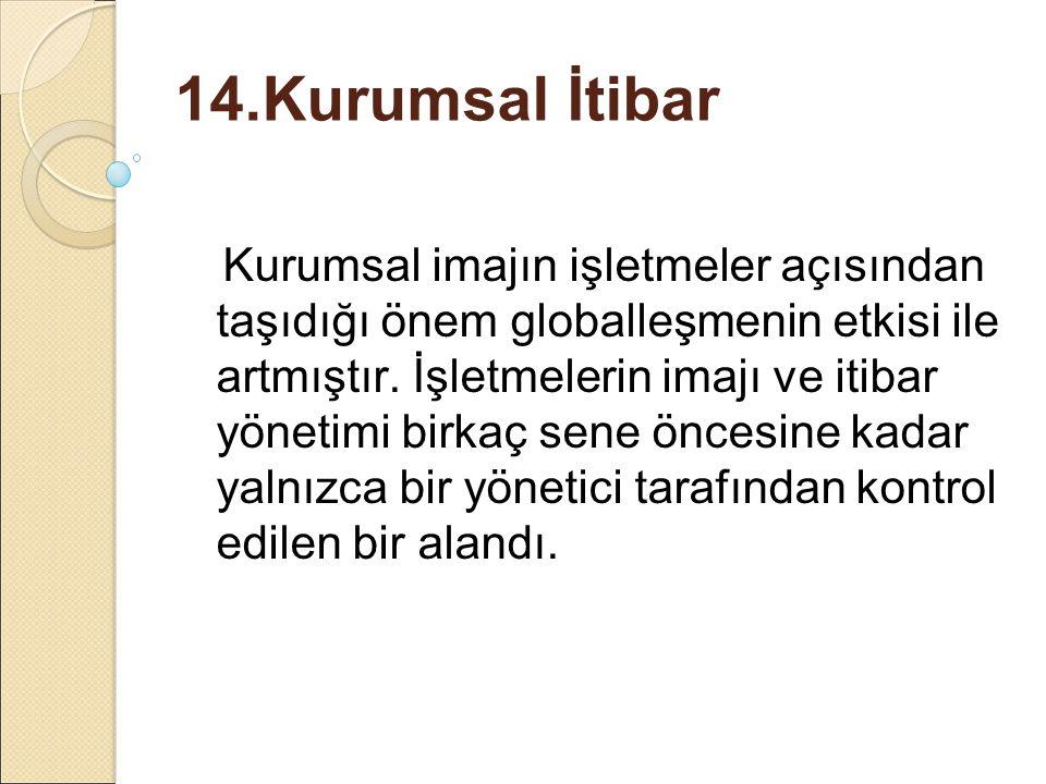 14.Kurumsal İtibar