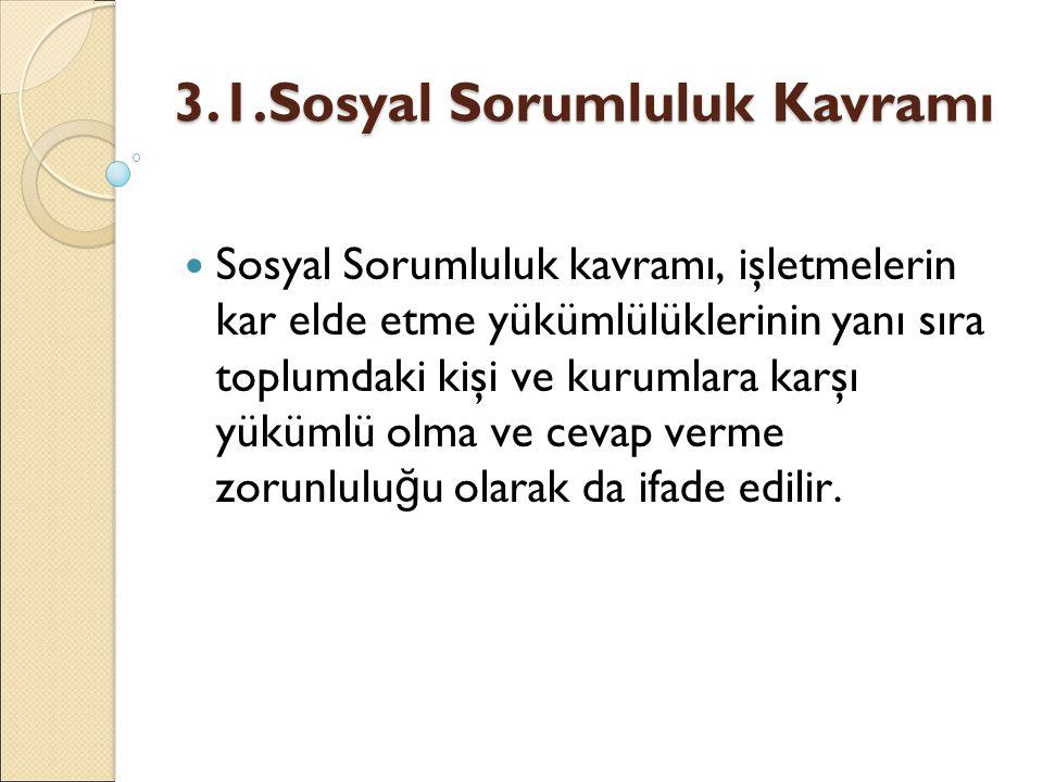 3.1.Sosyal Sorumluluk Kavramı