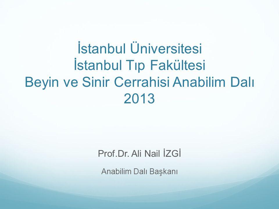 Prof.Dr. Ali Nail İZGİ Anabilim Dalı Başkanı