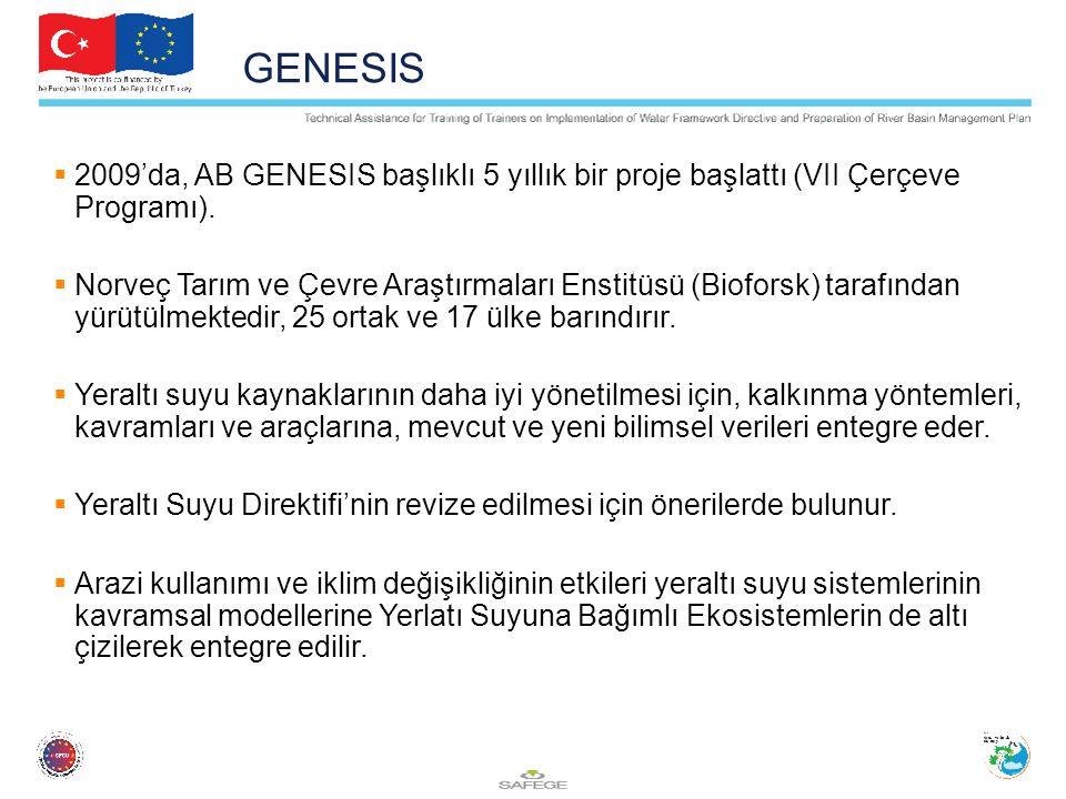 GENESIS 2009'da, AB GENESIS başlıklı 5 yıllık bir proje başlattı (VII Çerçeve Programı).