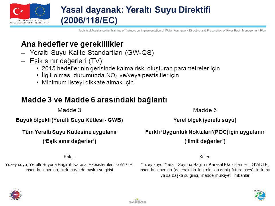 Yasal dayanak: Yeraltı Suyu Direktifi (2006/118/EC)