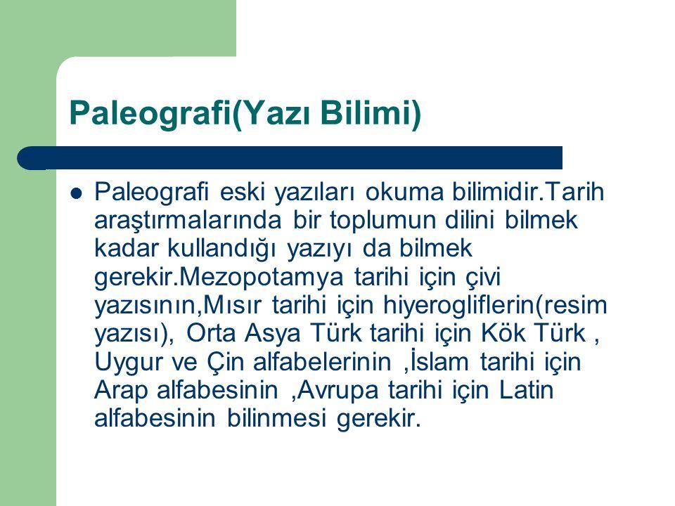 Paleografi(Yazı Bilimi)