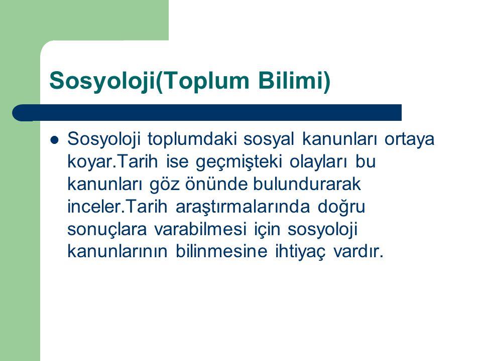Sosyoloji(Toplum Bilimi)