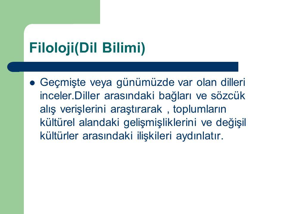 Filoloji(Dil Bilimi)