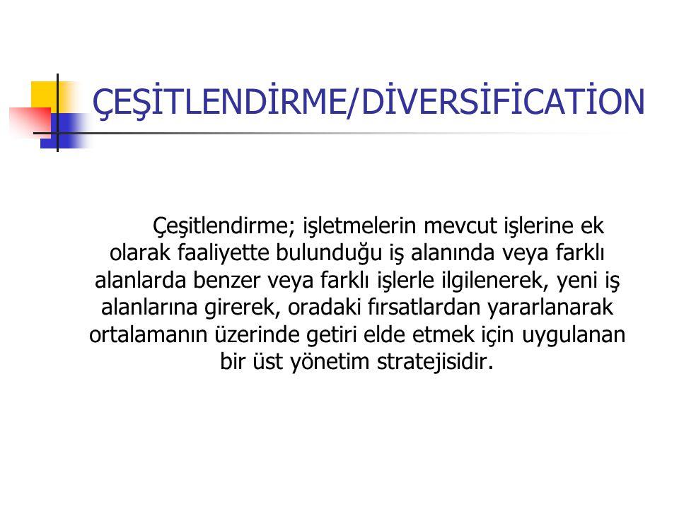ÇEŞİTLENDİRME/DİVERSİFİCATİON