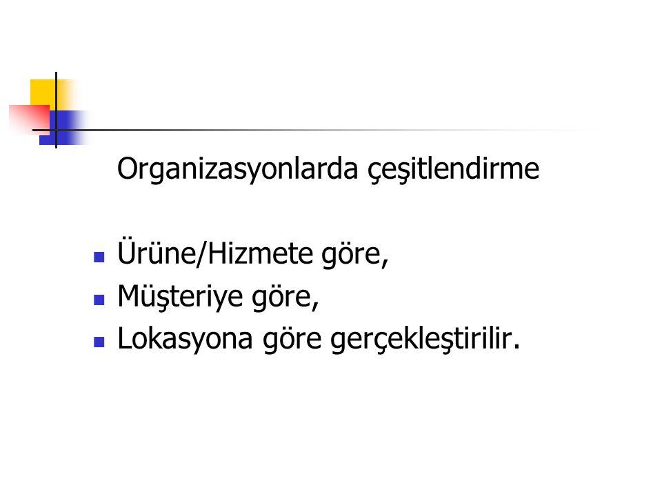 Organizasyonlarda çeşitlendirme