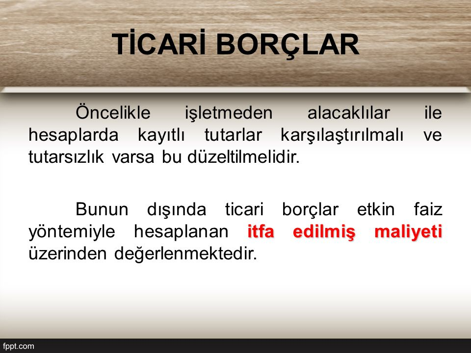 TİCARİ BORÇLAR