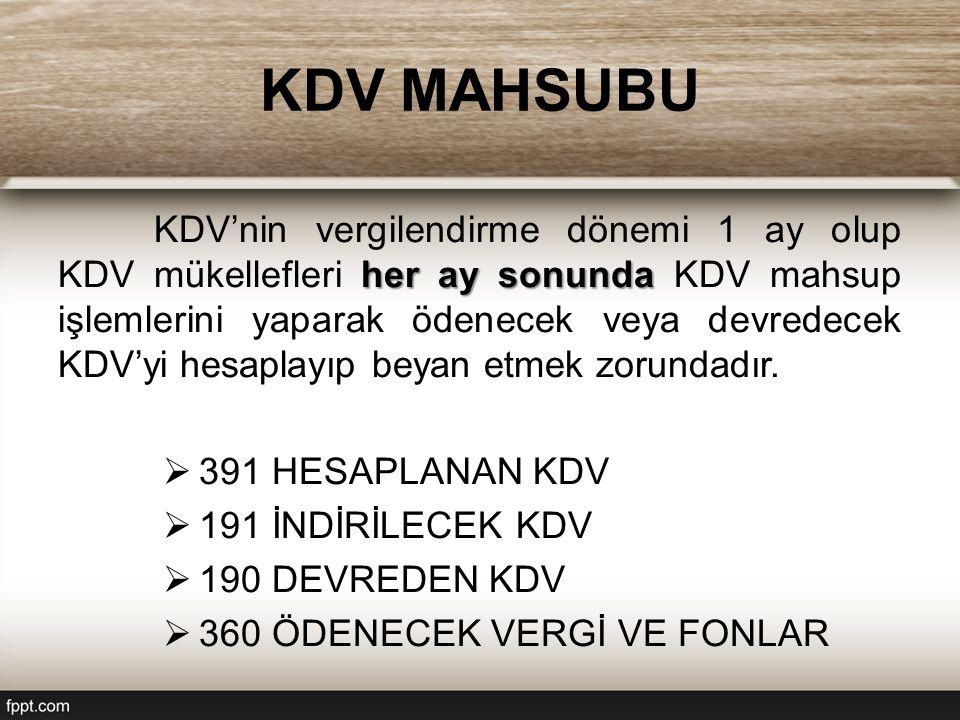 KDV MAHSUBU
