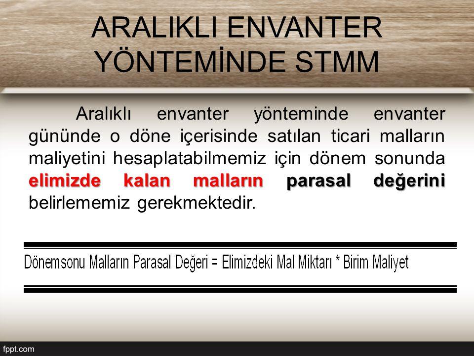 ARALIKLI ENVANTER YÖNTEMİNDE STMM