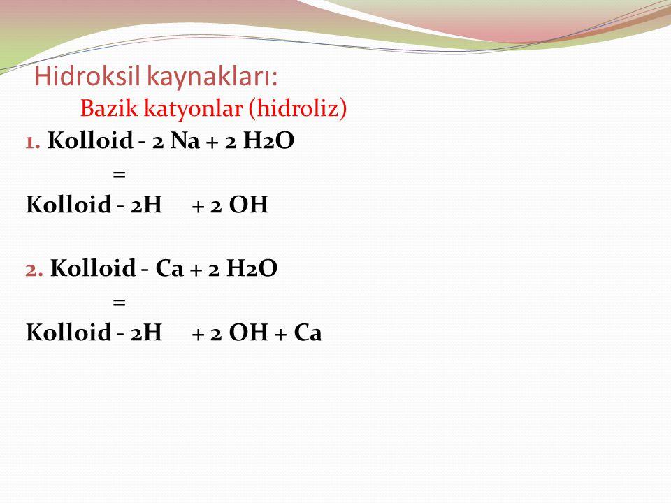 Hidroksil kaynakları: