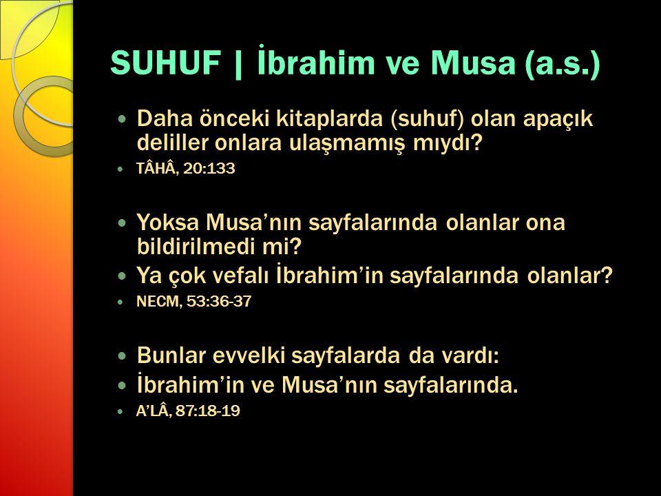 SUHUF | İbrahim ve Musa (a.s.)