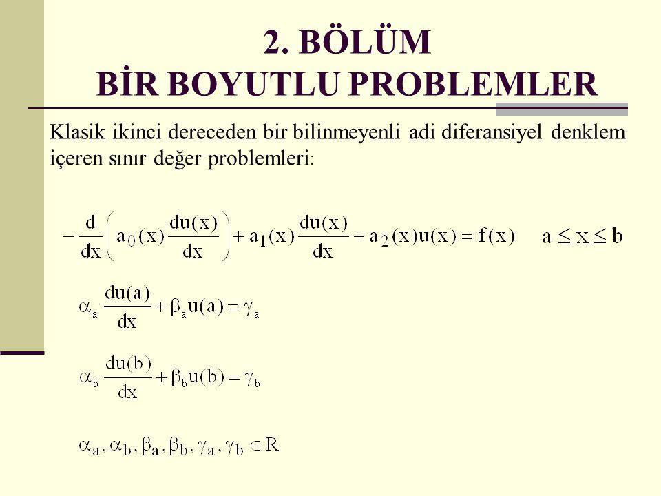 2. BÖLÜM BİR BOYUTLU PROBLEMLER