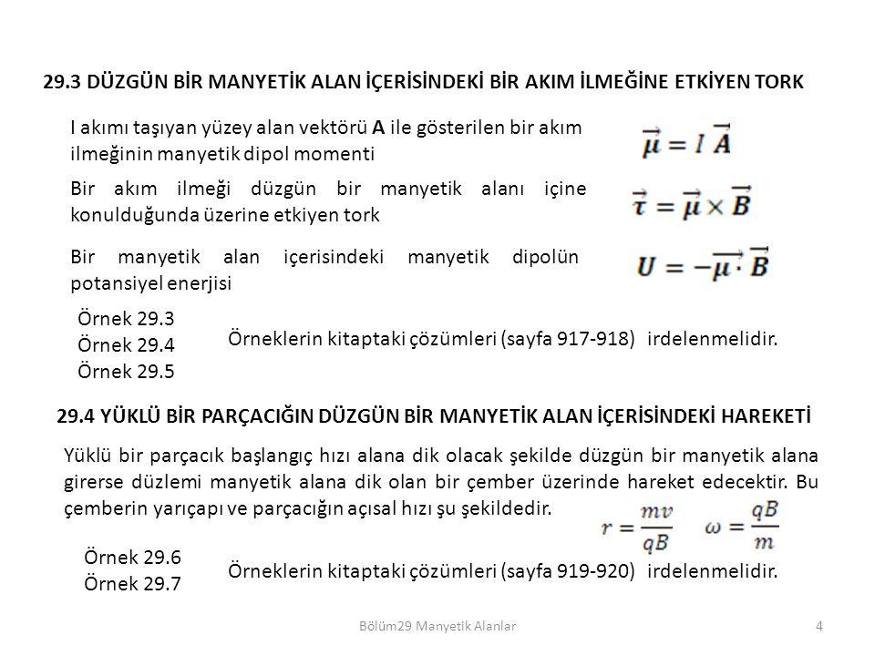 Bölüm29 Manyetik Alanlar