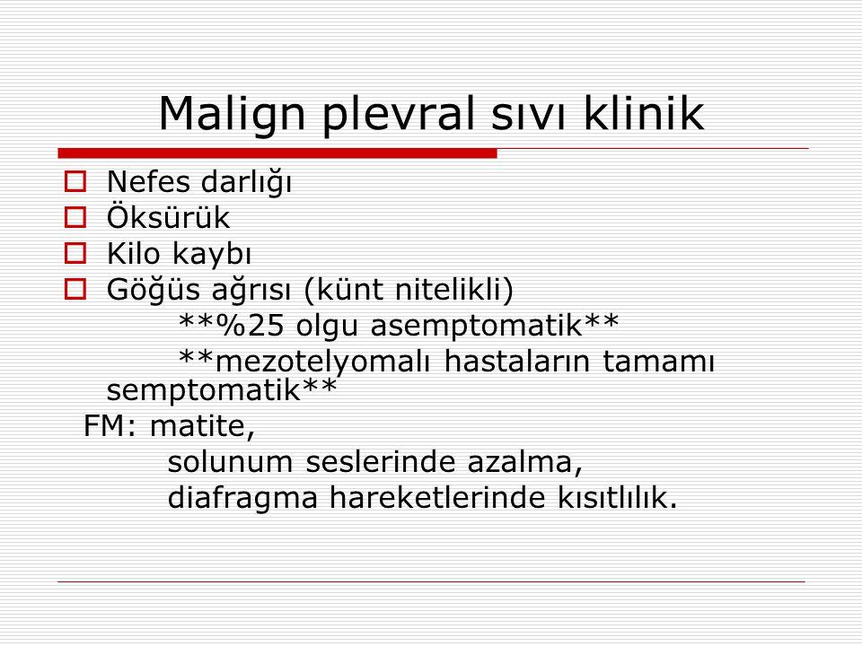 Malign plevral sıvı klinik