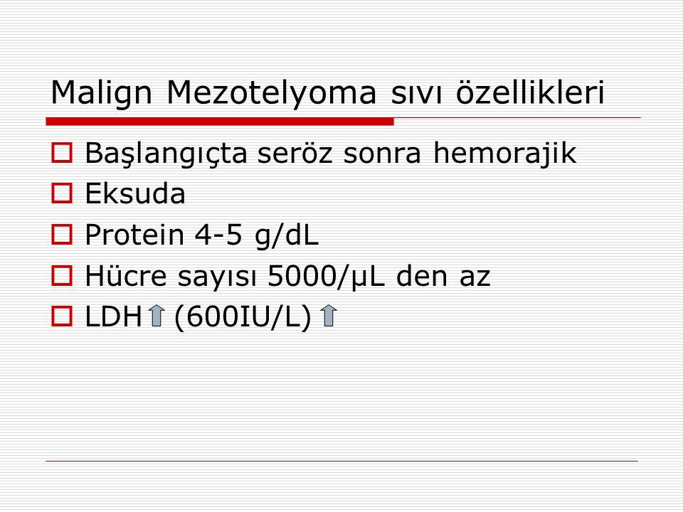 Malign Mezotelyoma sıvı özellikleri