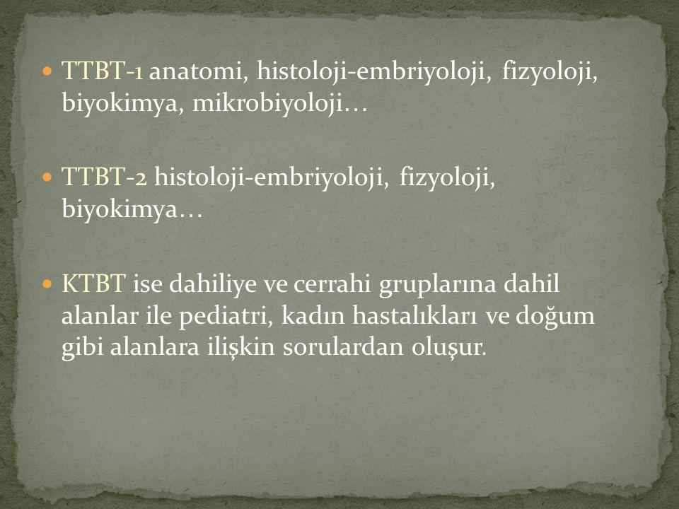 TTBT-1 anatomi, histoloji-embriyoloji, fizyoloji, biyokimya, mikrobiyoloji…