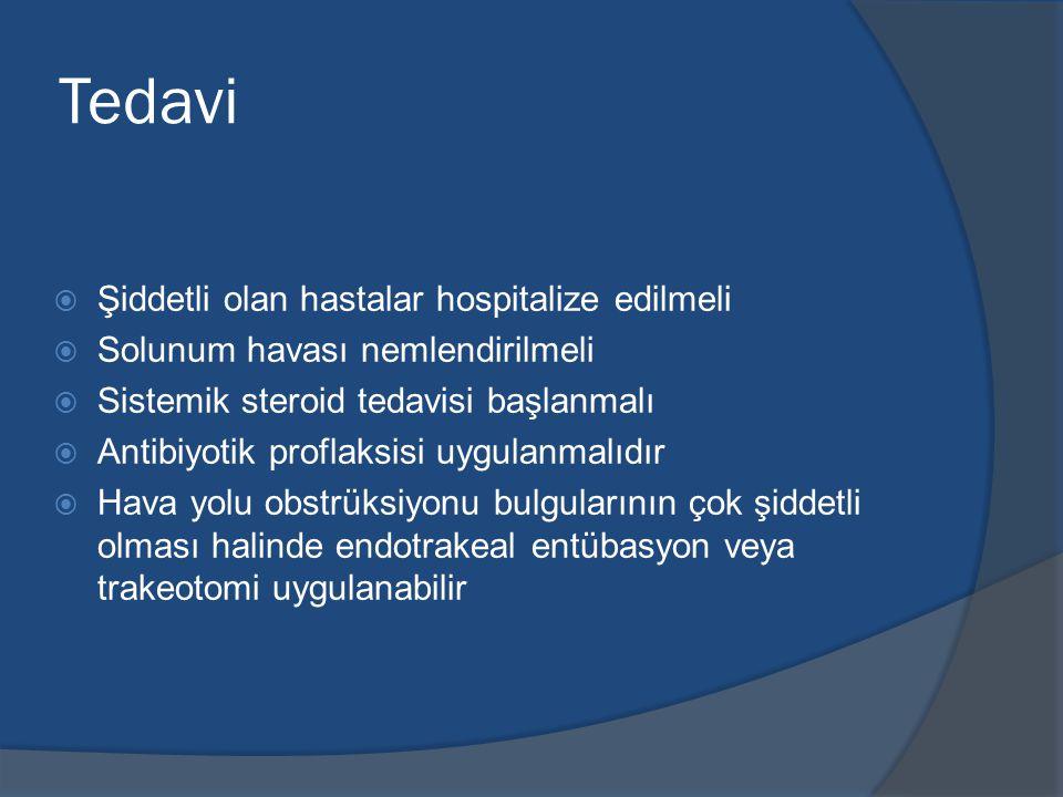 Tedavi Şiddetli olan hastalar hospitalize edilmeli