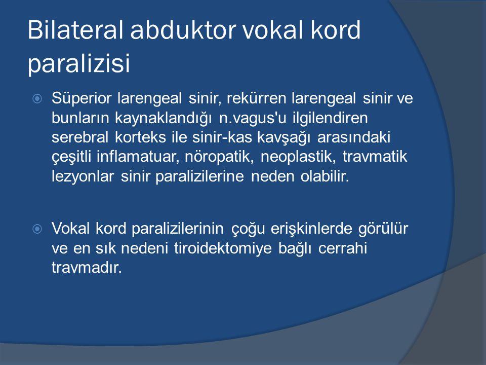 Bilateral abduktor vokal kord paralizisi