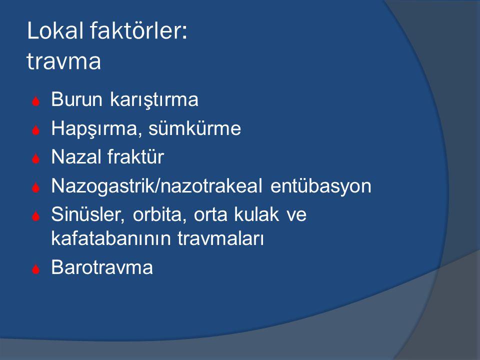 Lokal faktörler: travma
