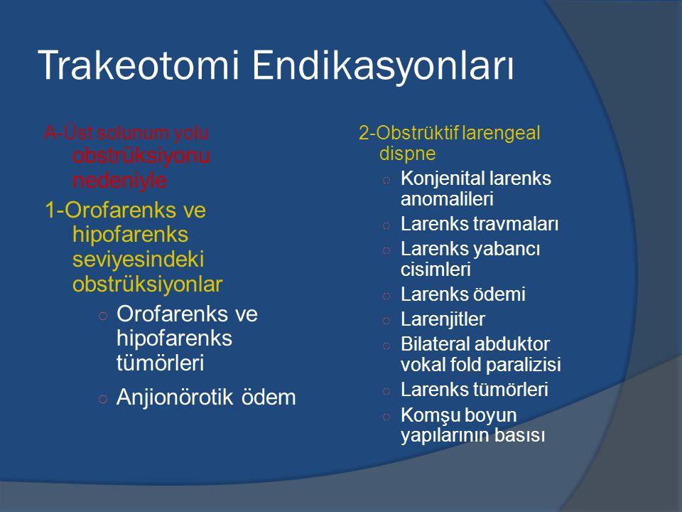 Trakeotomi Endikasyonları