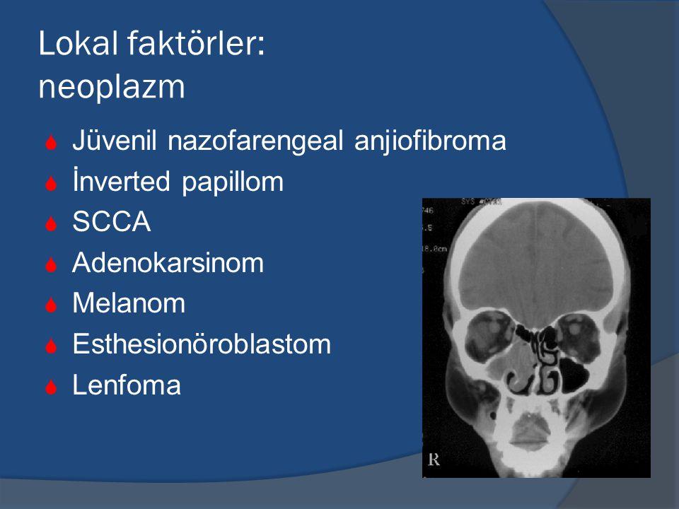 Lokal faktörler: neoplazm