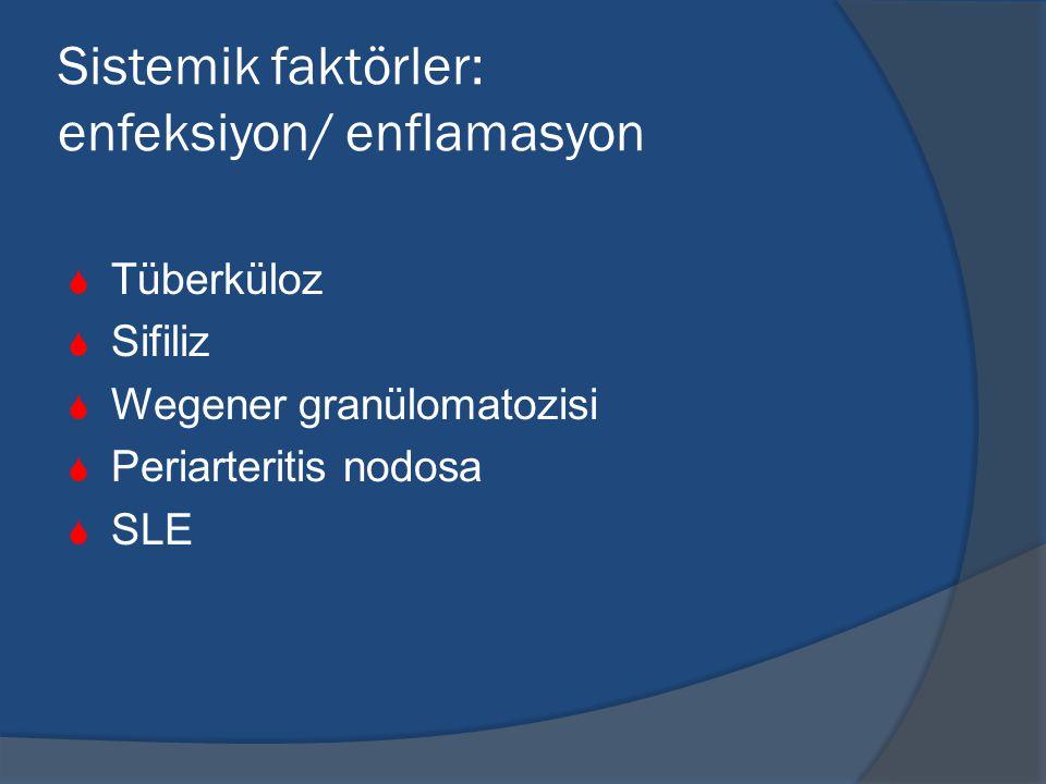 Sistemik faktörler: enfeksiyon/ enflamasyon