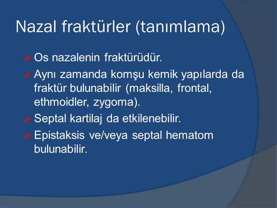 Nazal fraktürler (tanımlama)