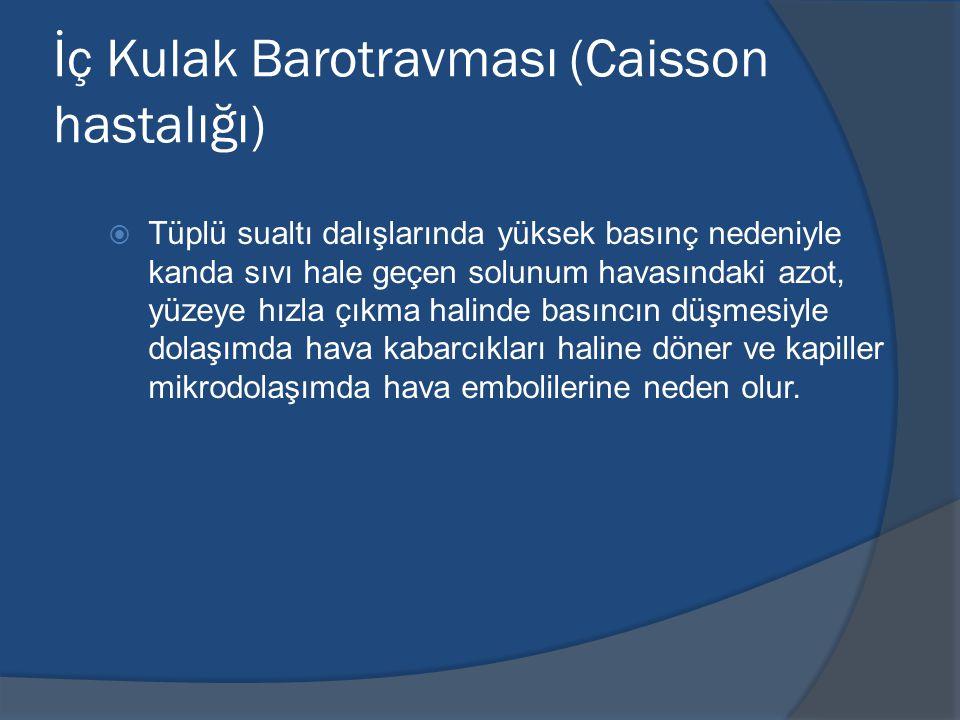 İç Kulak Barotravması (Caisson hastalığı)