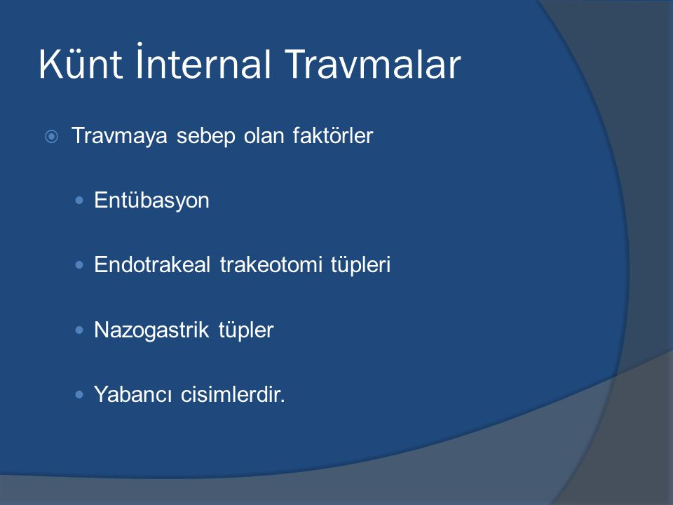 Künt İnternal Travmalar