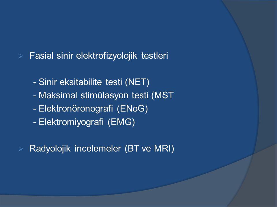 Fasial sinir elektrofizyolojik testleri