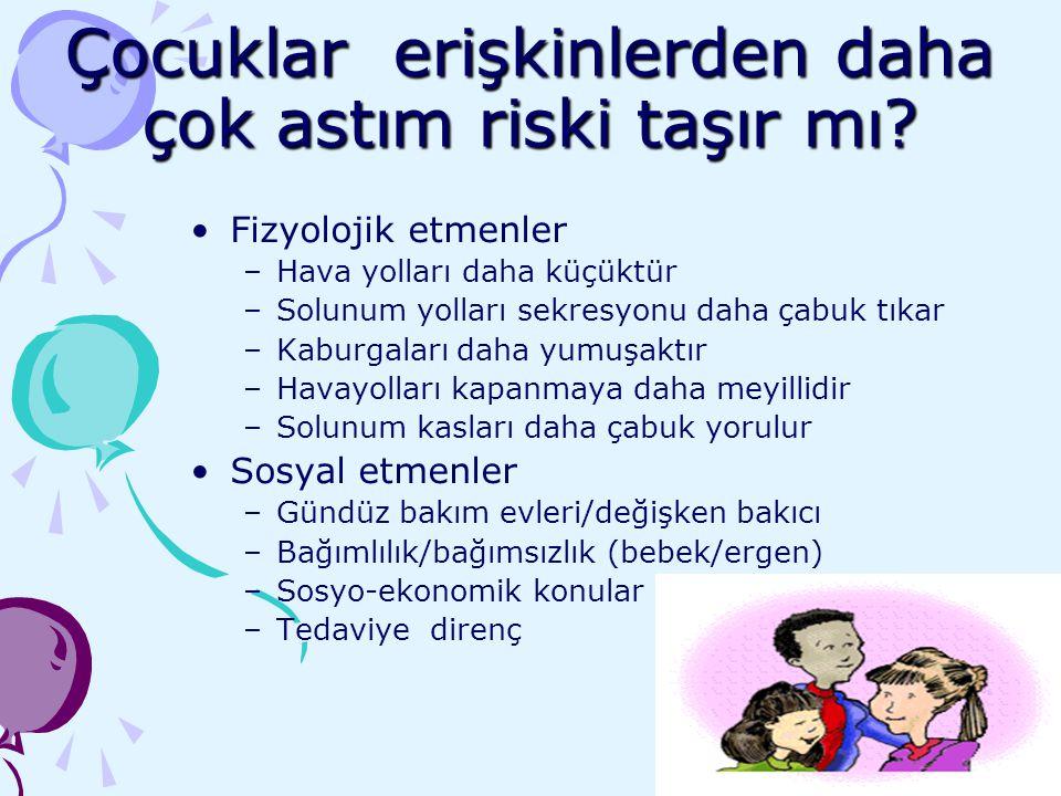 Çocuklar erişkinlerden daha çok astım riski taşır mı
