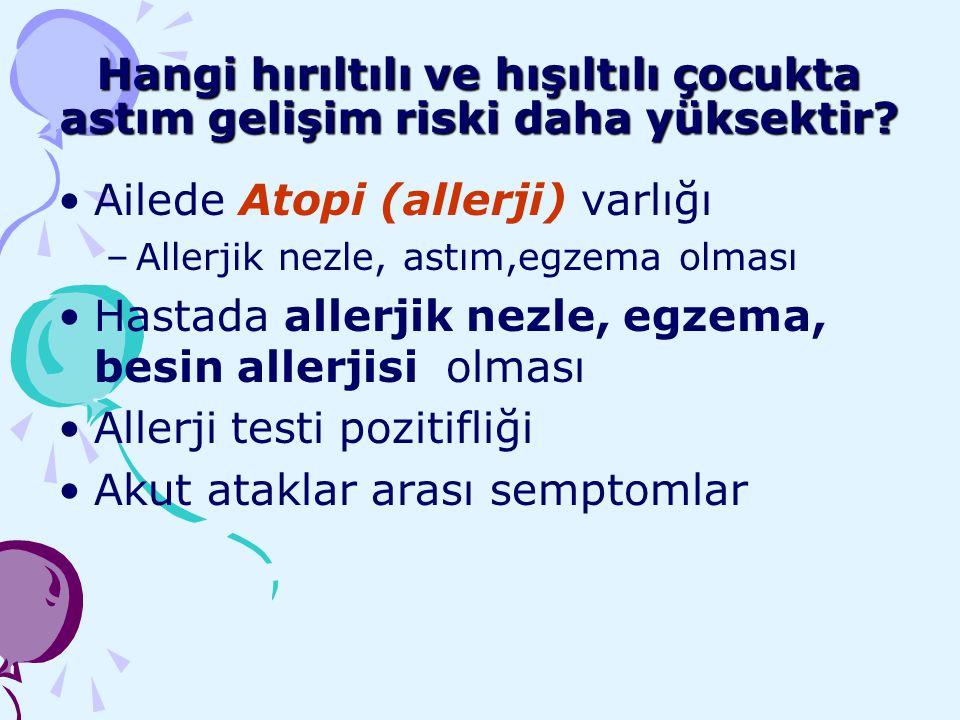 Ailede Atopi (allerji) varlığı