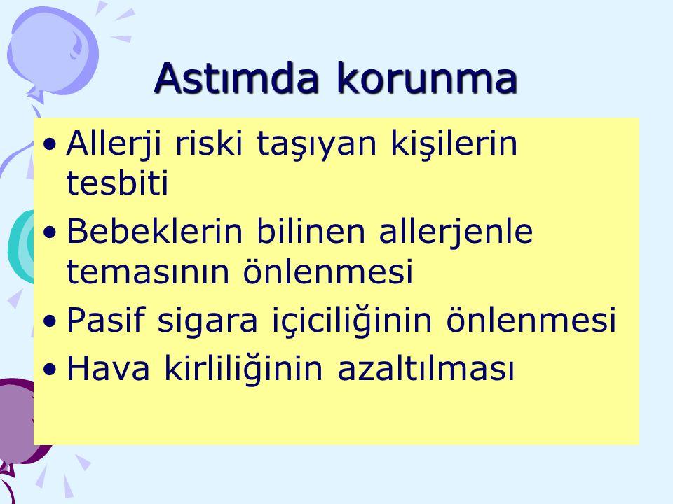 Astımda korunma Allerji riski taşıyan kişilerin tesbiti