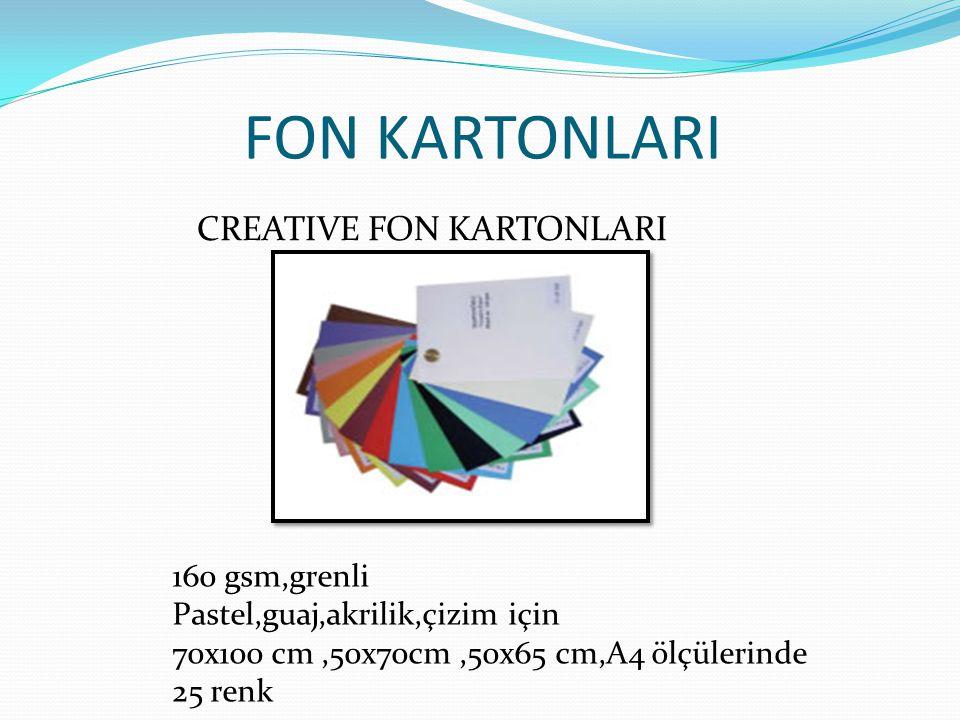 FON KARTONLARI CREATIVE FON KARTONLARI 160 gsm,grenli
