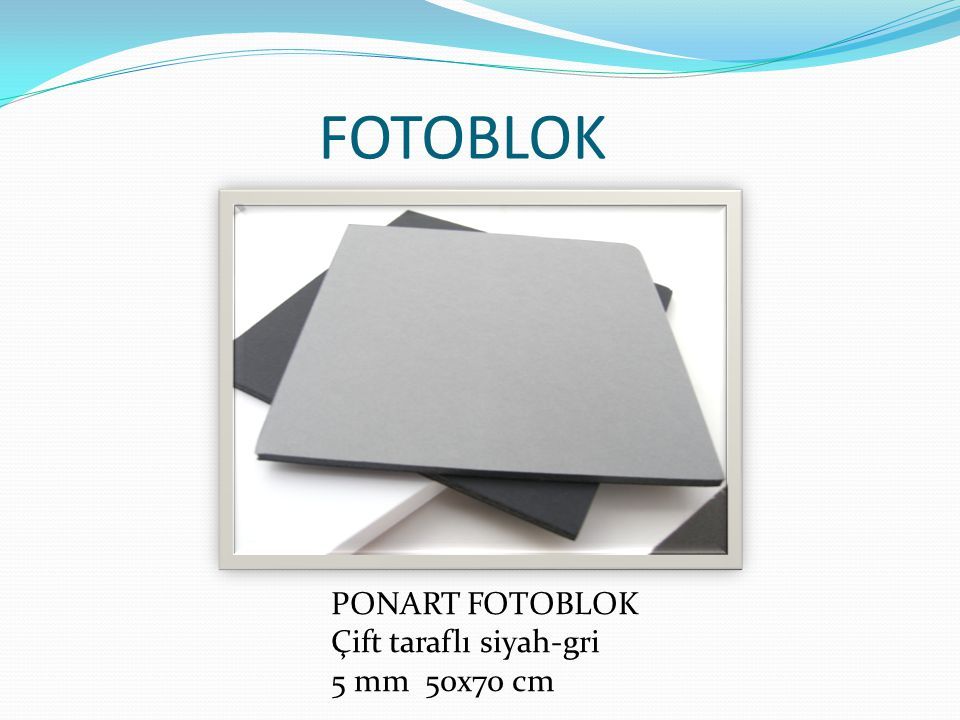 FOTOBLOK PONART FOTOBLOK Çift taraflı siyah-gri 5 mm 50x70 cm