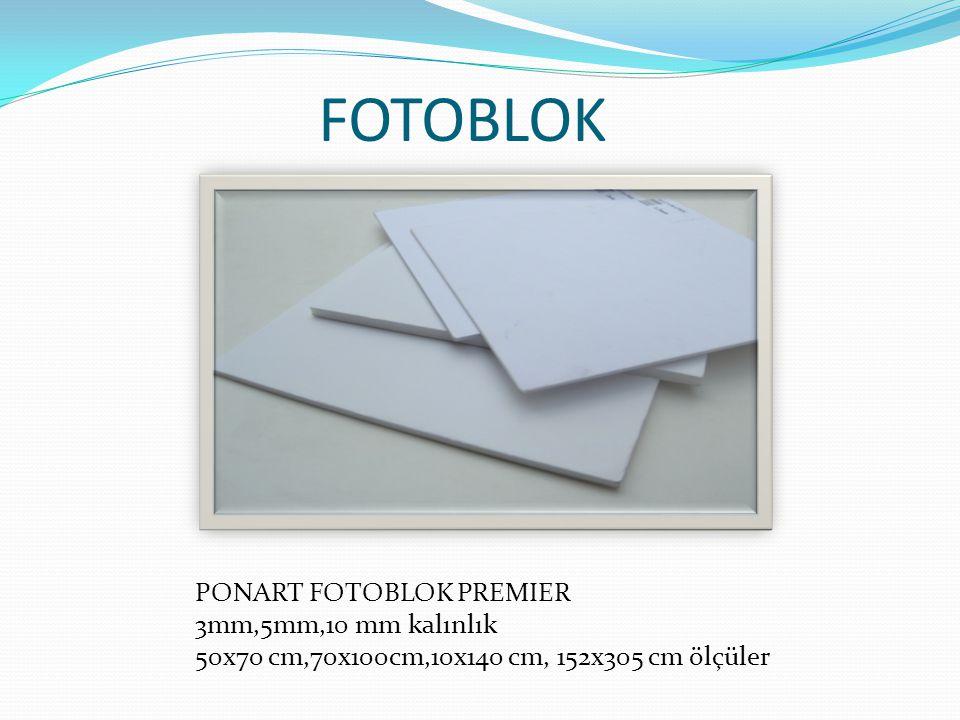 FOTOBLOK PONART FOTOBLOK PREMIER 3mm,5mm,10 mm kalınlık