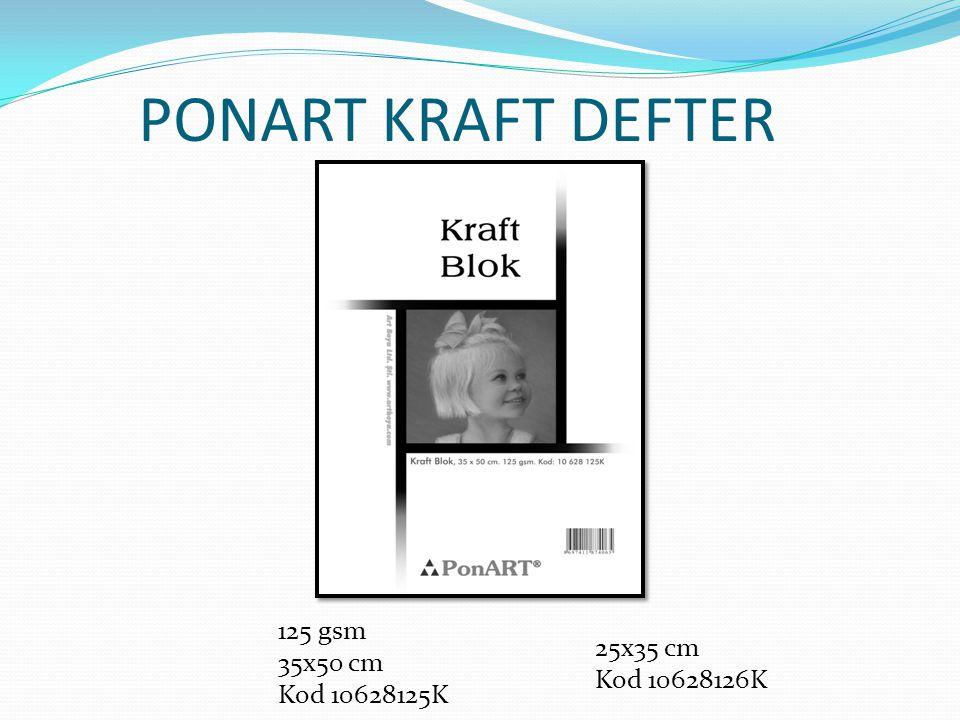 PONART KRAFT DEFTER 125 gsm 35x50 cm Kod 10628125K 25x35 cm