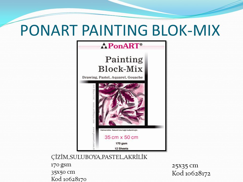 PONART PAINTING BLOK-MIX