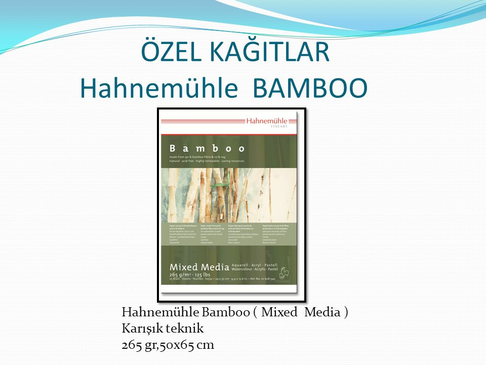 ÖZEL KAĞITLAR Hahnemühle BAMBOO