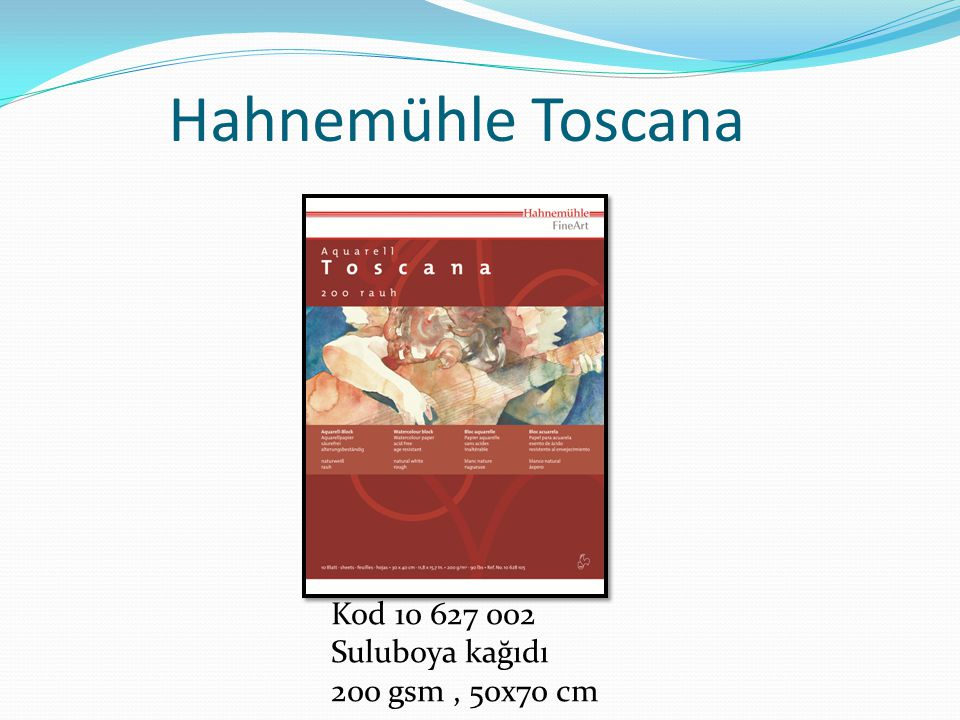 Hahnemühle Toscana Kod 10 627 002 Suluboya kağıdı 200 gsm , 50x70 cm