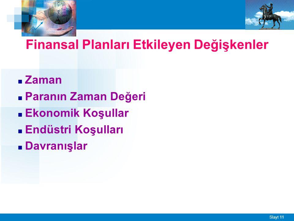 Finansal Planlama Faktörleri