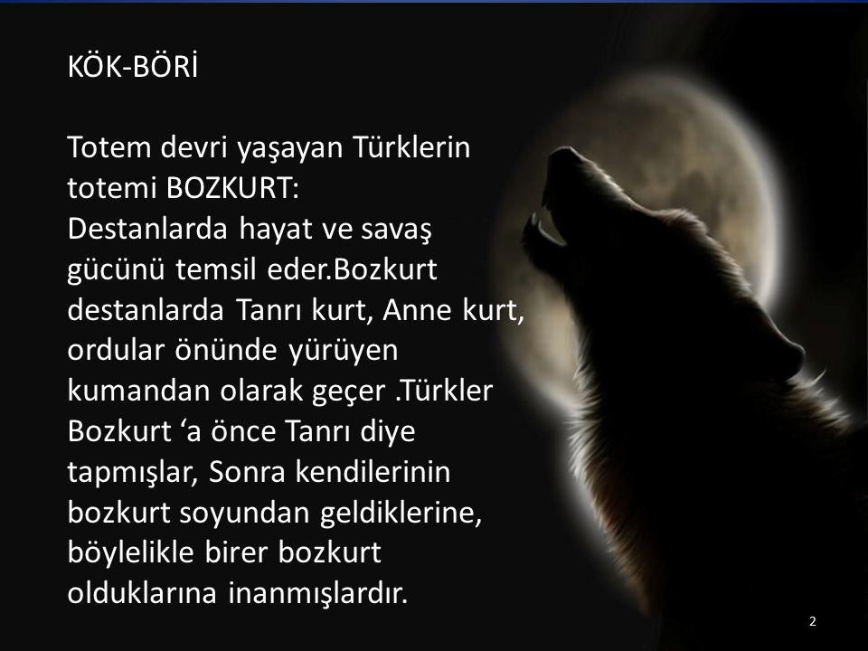 Totem devri yaşayan Türklerin totemi BOZKURT: