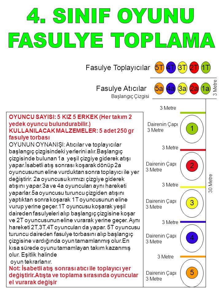 4. SINIF OYUNU FASULYE TOPLAMA Fasulye Toplayıcılar 5T 4T 3T 2T 1T