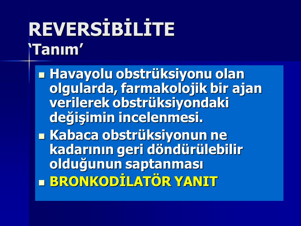REVERSİBİLİTE 'Tanım'