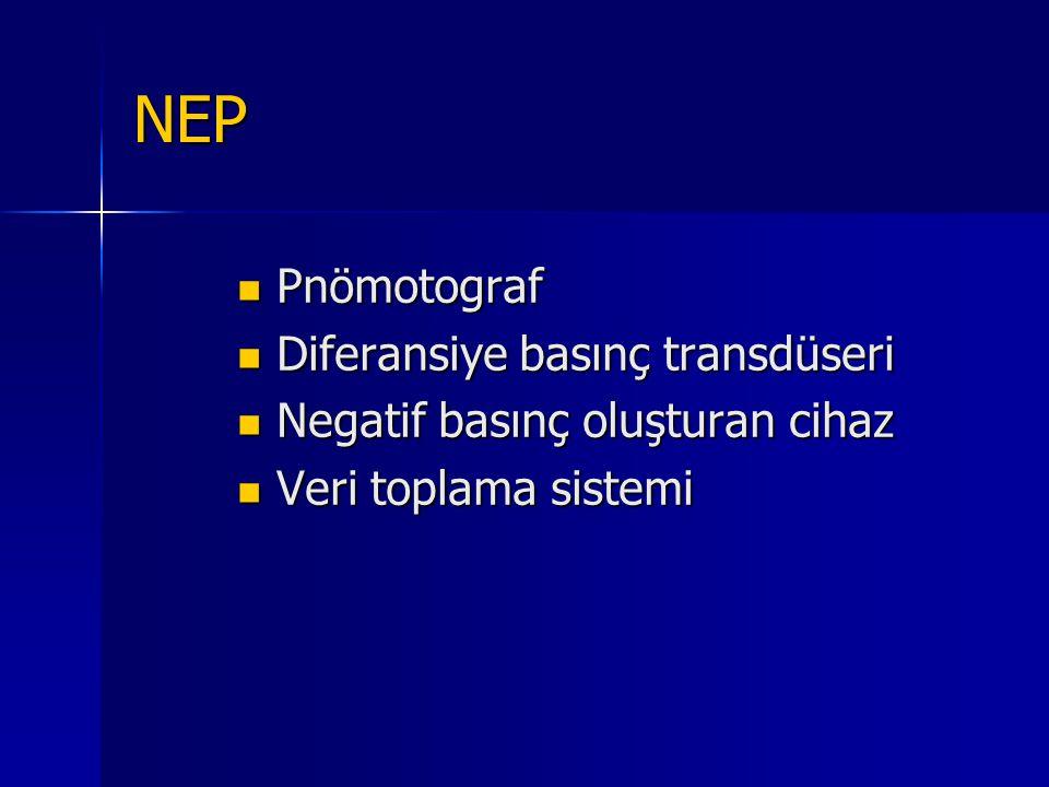 NEP Pnömotograf Diferansiye basınç transdüseri