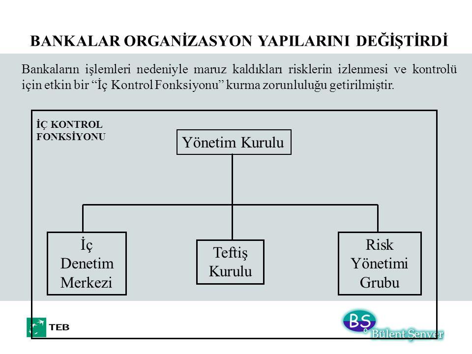 BANKALAR ORGANİZASYON YAPILARINI DEĞİŞTİRDİ