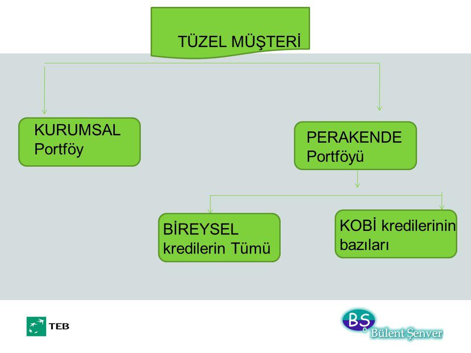 TÜZEL MÜŞTERİ KURUMSAL Portföy. PERAKENDE Portföyü.