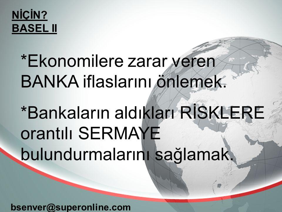 *Ekonomilere zarar veren BANKA iflaslarını önlemek.
