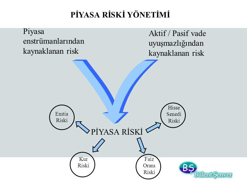 Piyasa enstrümanlarından kaynaklanan risk