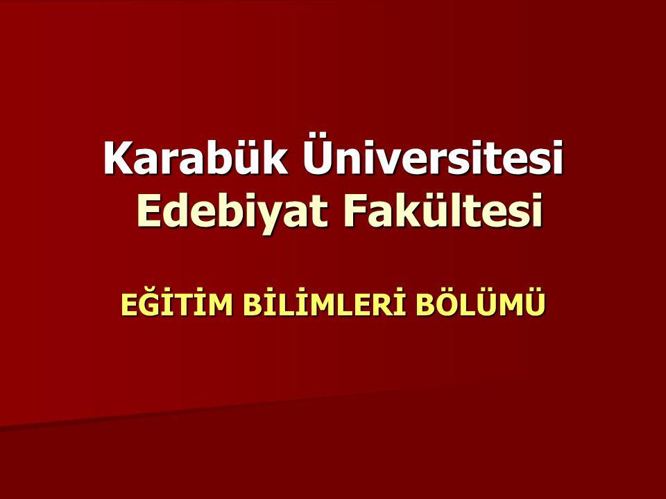 Karabük Üniversitesi Edebiyat Fakültesi